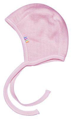 Hue hjelm til for tidligt født. Rosa uld fra Joha