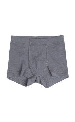 Joha drengeunderbukser i 85% blødt merinould og 15% silke. Grå
