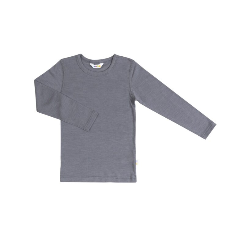 Joha t-shirt uld/silke med lange ærmer i grå