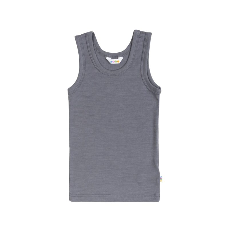 Joha t-shirt uld/silke uden ærmer i grå