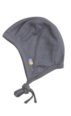 Joha uld/silke babyhue i grå