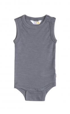 Joha uld/silke body uden ærmer grå