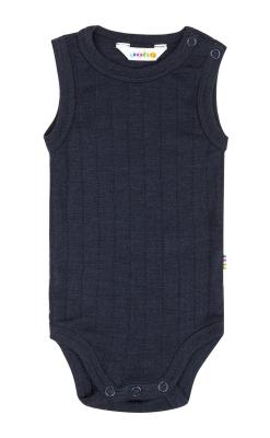 Joha uld-silke body uden ærmer i marineblå