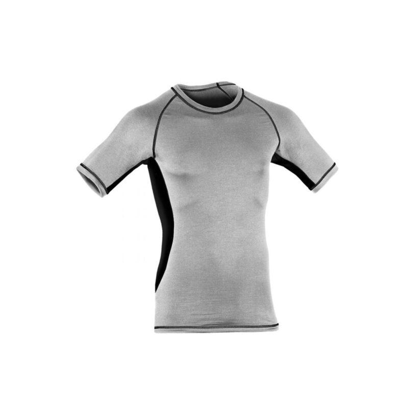 Engel Sports uld/silke løbe t-shirt til mænd - grå