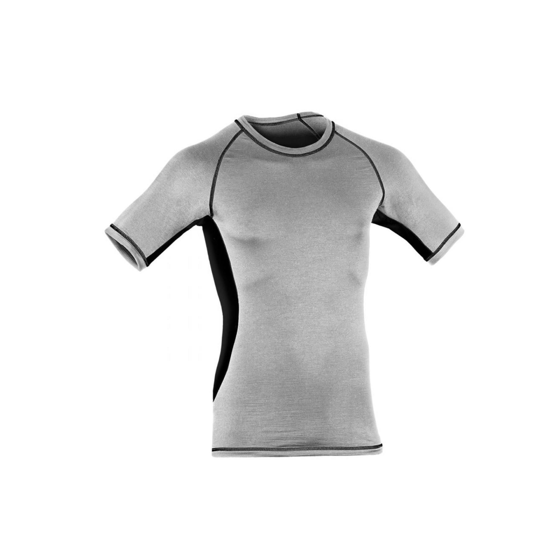 Engel løbe t shirt til mænd Uld silke Slim fit Økologisk Gråsort