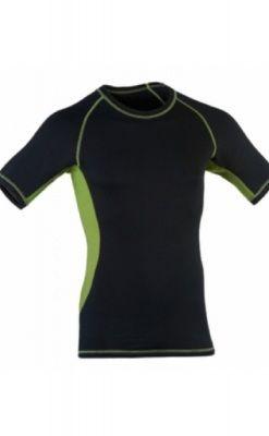 Engel Sports uld/silke løbe t-shirt til mænd - sort