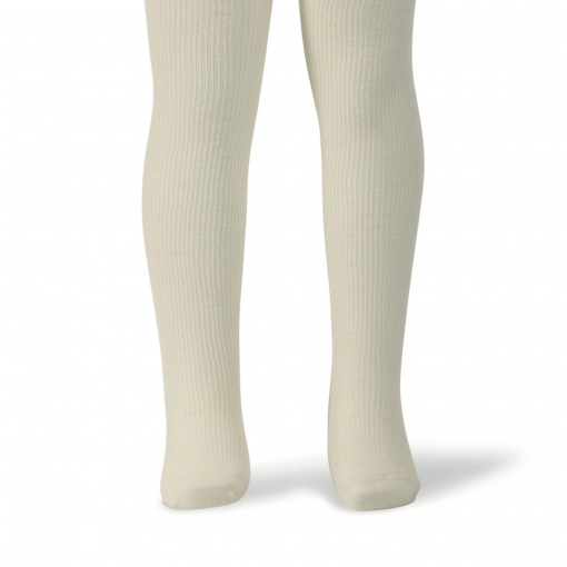 Melton basis strømpebukser i lysegrå - 75% uld