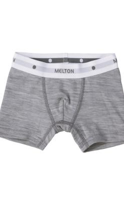 Melton uld/bomuld boxershorts underbukser til drenge i lysegrå