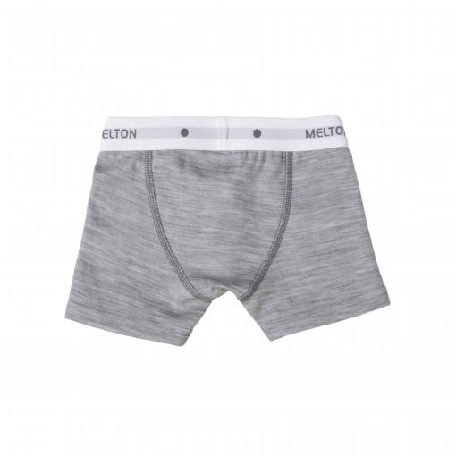 Melton uld/bomuld boxershorts underbukser til drenge i lysegrå - bagsiden