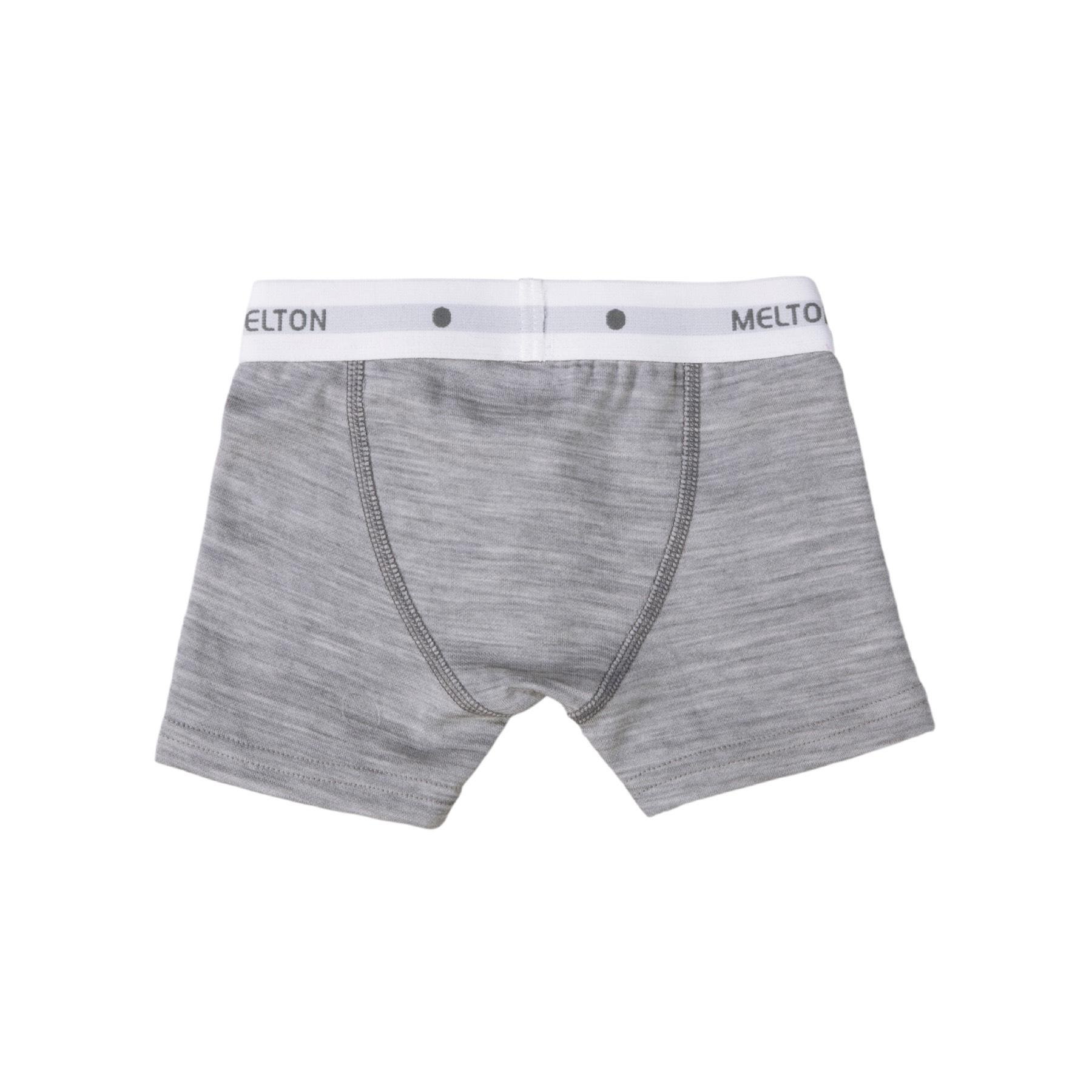 f1165395c84 Melton boxershorts til dreng i uld og bomuld - Lysegrå