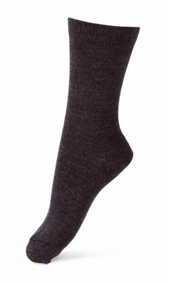 Melton basisstrømpe i 75% uld - mørkegrå