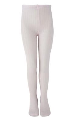 Melton strømpebukser i rosa - 75% uld
