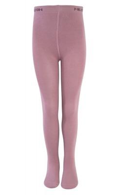 Flotte Melton strømpebukser i uld/bomuld - pink
