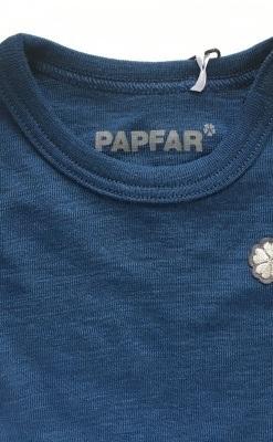 Papfar Langærmet uldbody i blå