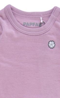 Langærmet 100% uldbody i rosa fra Papfar