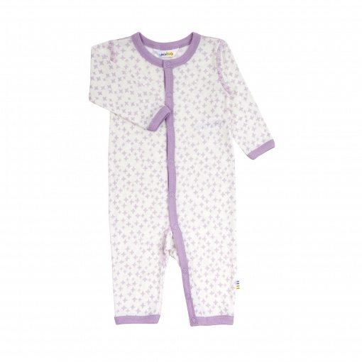 Billede af Heldragt i uld silke med fint lyserødt stjernemønster - Joha