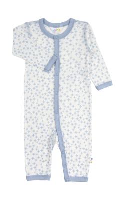 uld silke heldragt med fint blåt stjernemønster - Joha
