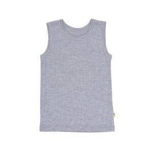 Uld undertrøje uden ærmer fra Joha i grå