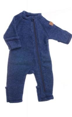 køredragt i uld fra Mikk-Line. Med lynlås og tryllefod - blå