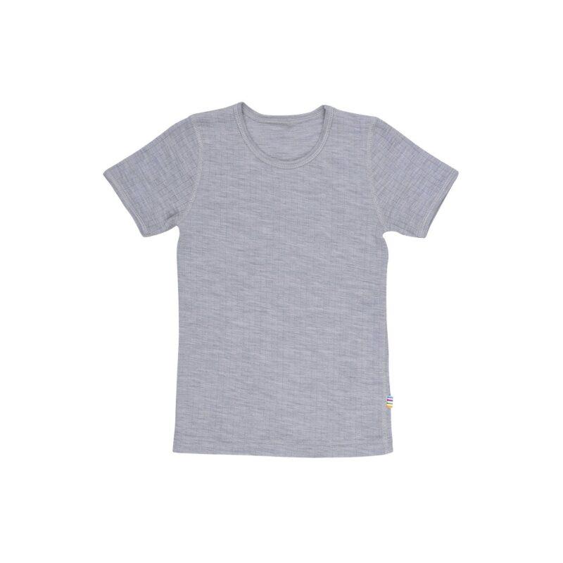 uld undertrøje med korte ærmer i grå fra Joha