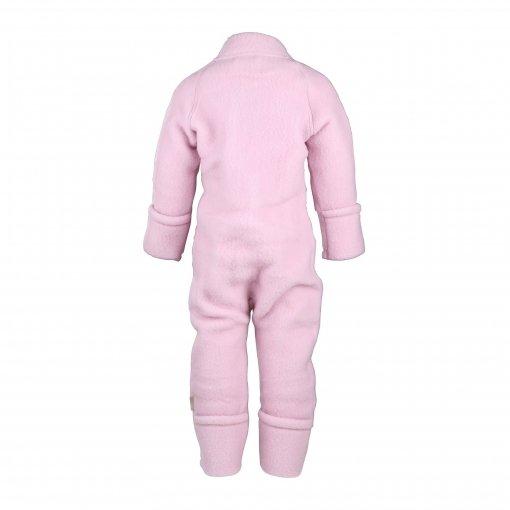 Køredragt i uld fra Mikk-Line. Med lynlås og tryllefod - rosa. Bagsiden