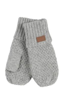 Luffer til baby og børn i lysegrå uld fra Melton med tommeltot