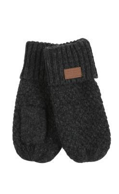 Luffer til baby og børn i mørkegrå uld fra Melton med tommeltot