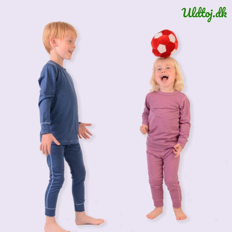 Skiundertøj til børn i uld. Nattøj og langt undertøj