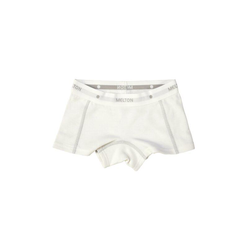 Melton uld/bomuld boxershorts underbukser til piger i hvid