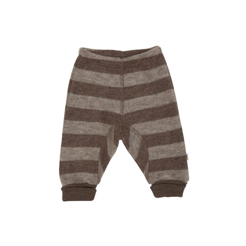 Bukser i softuld - 100% merinould. Ekstra tyk kvalitet. Brune striber. Joha