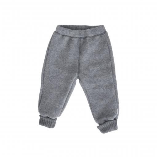 Bukser i softuld fra mikk-line i mørkegrå