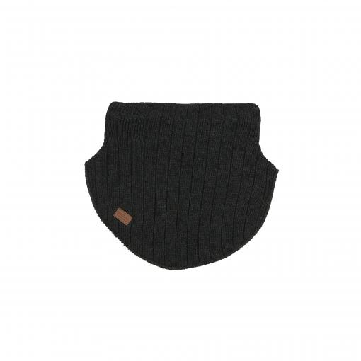 Halsedisse i mørkegrå i 2 lag. Yderste lag er uld og det inderste lag er bomuld. Melton