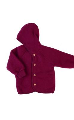 uld fleece softuld baby jakke bordeaux - Engel GOTS