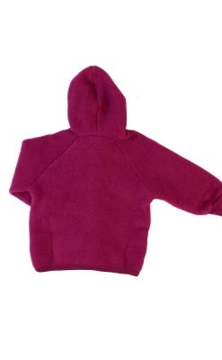 uld fleece softuld baby jakke bordeaux - Engel GOTS - bagsiden