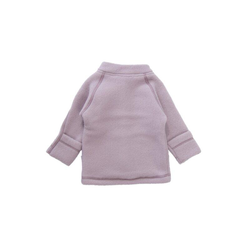 Jakke i softuld - rosa. Folde om ærmer. mikk-line. Bagsiden
