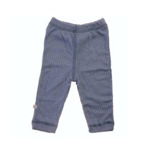 Leggings marineuld fra Smallstuff. Rib mønster. Blå