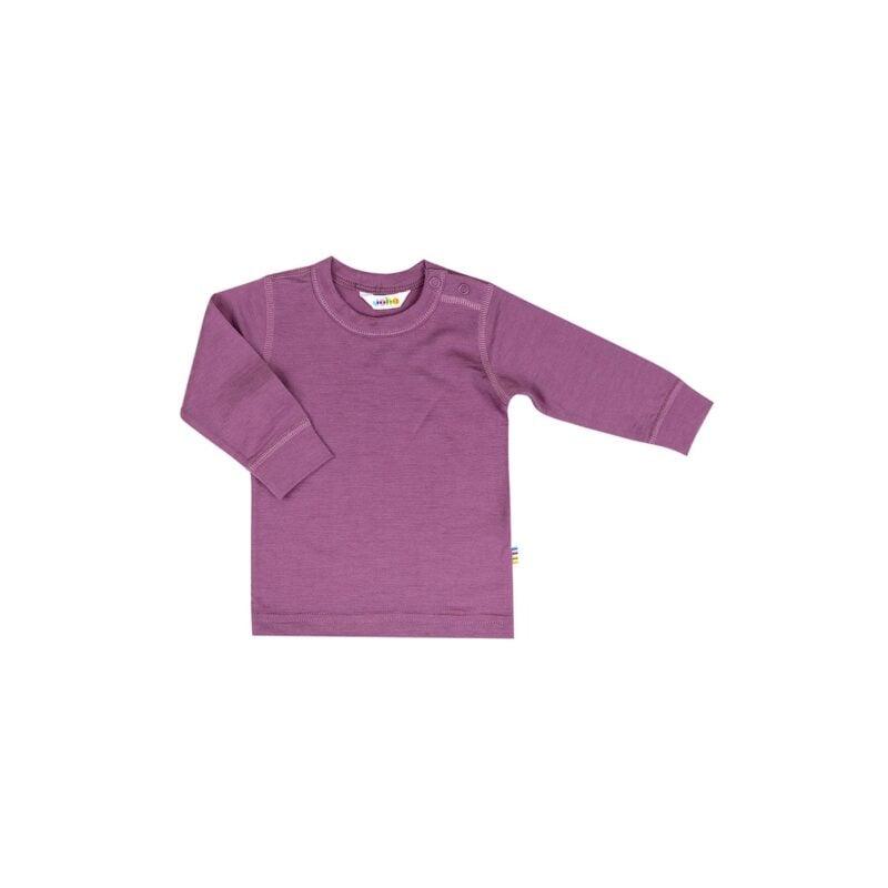 Skiundertrøje i uld til børn. 100% merinould. Joha - rød