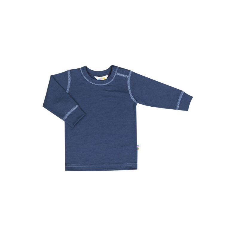 Skiundertrøje i uld til børn. 100% merinould. Joha - blå