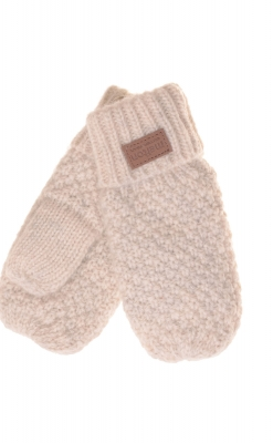 Luffer til baby og børn i råhvid uld fra Melton med tommeltot