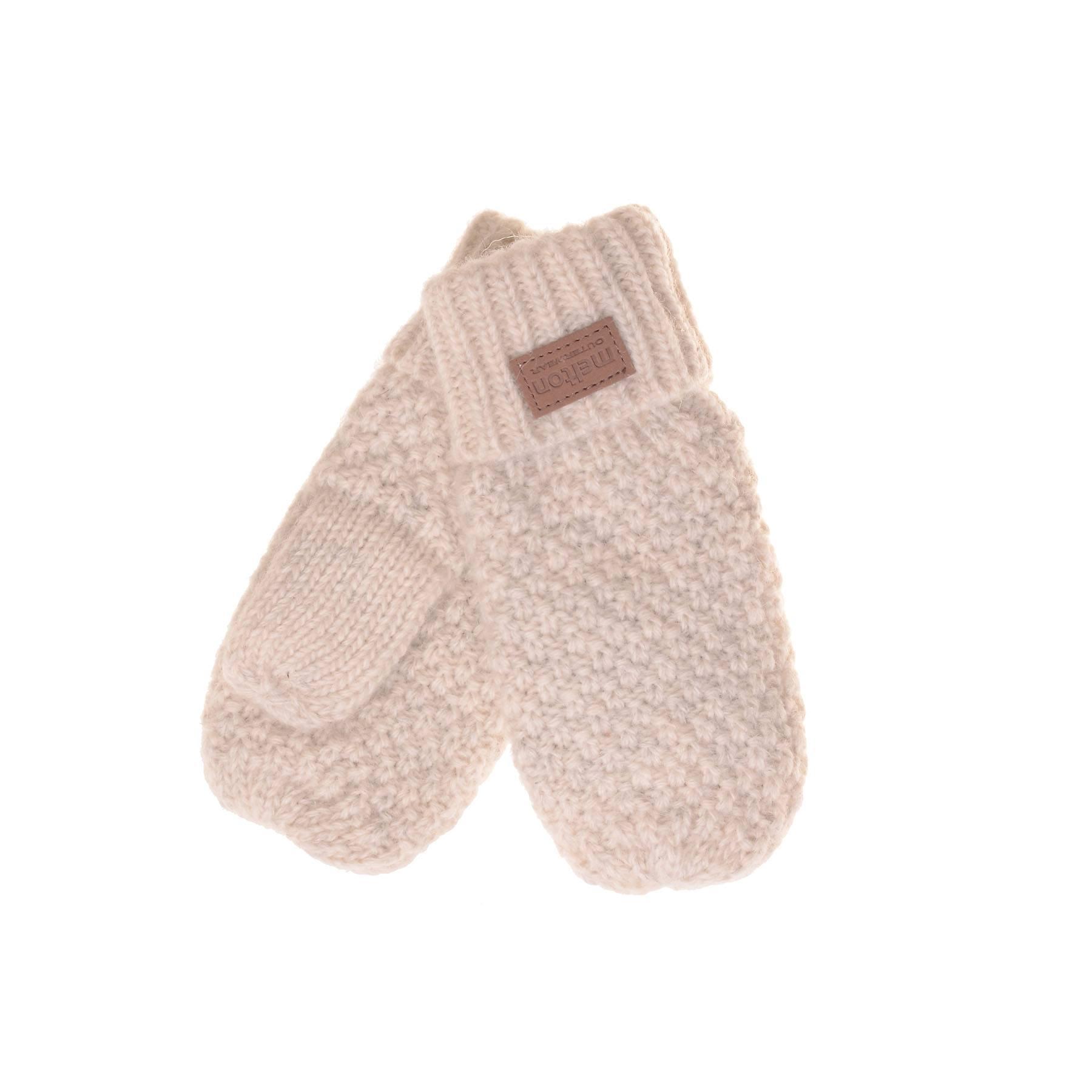 Luffer i uld til børn og babyer - Med tommeltot - Hvid - Melton