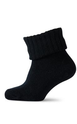 Tyk uldstrømpe i sort fra Melton.
