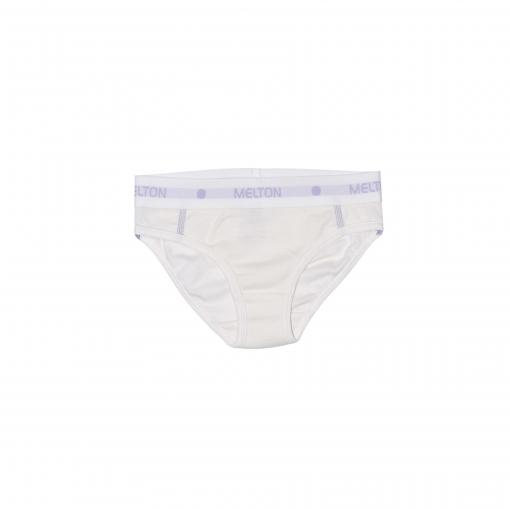 Melton uld/bomuld underbukser til piger i hvid