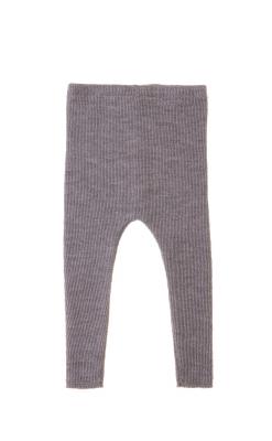 Leggings i grå GOTS merinould strik fra Alerin