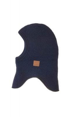 Elefanthue i blå softuld. Mikk-Line