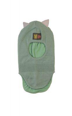 Kattnakken elefanthue med refleks ører. Pistaciegrøn
