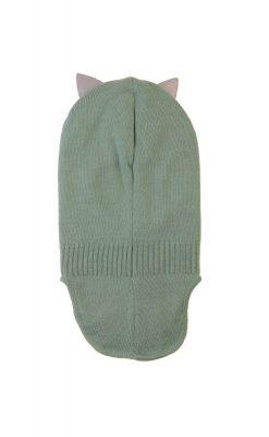 Kattnakken elefanthue med refleks ører. Pistaciegrøn. Bagsiden