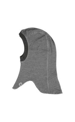 Elefanthue i uld fra Papfar. Sorte striber