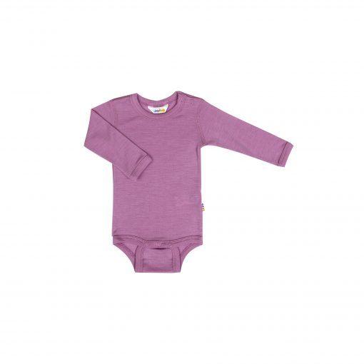 Langærmet body i rosa uld silke fra Joha.