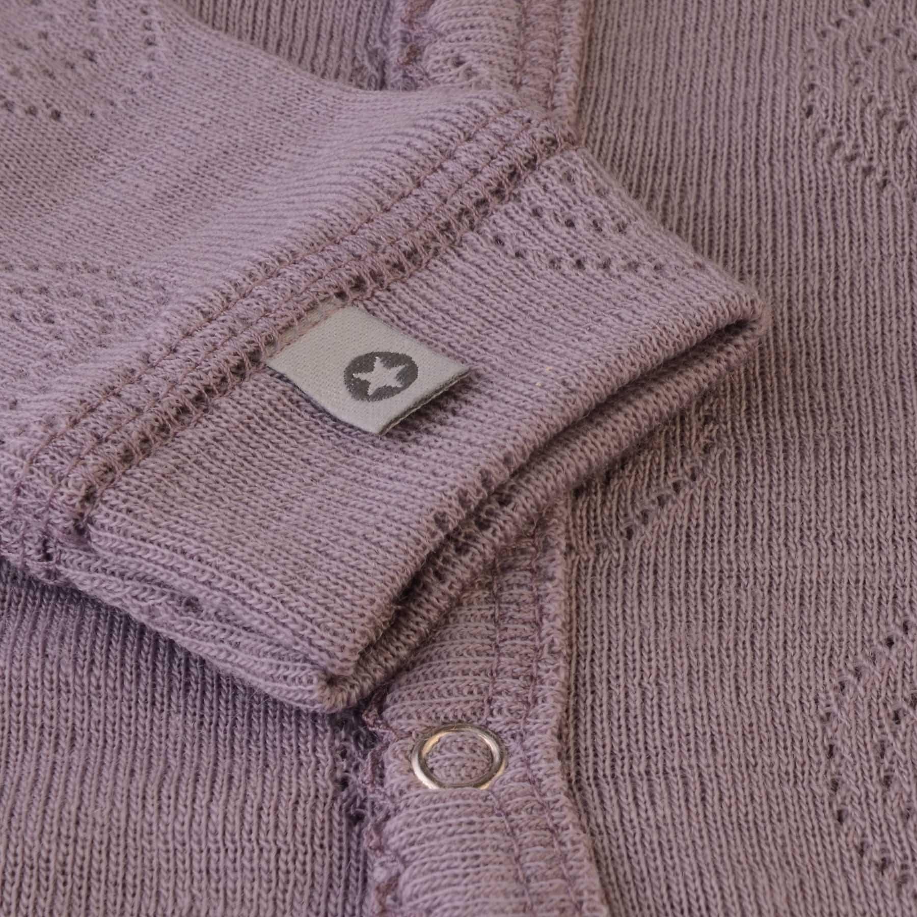 Heldragt med hulmønster - Fin tynd sommerkvalitet - Lilla uld - Smallstuff