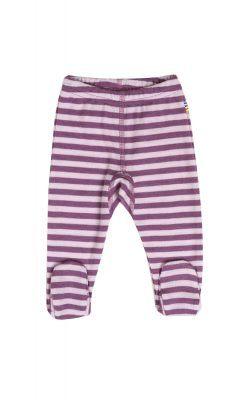 Leggings til præmatur i rosa stribet uld.